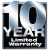 10-Year Limited Parts and Compressor Warranties